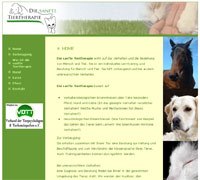 Die sanfte Tiertherapie Website